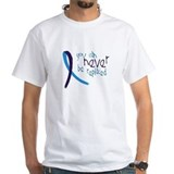 Depression Mens White T-shirts