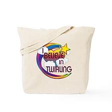 I Believe In Twirling Cute Believer Design Tote Ba