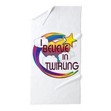I Believe In Twirling Cute Believer Design Beach T