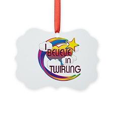 I Believe In Twirling Cute Believer Design Ornament
