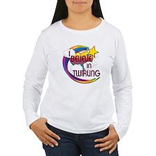 I Believe In Twirling Cute Believer Design T-Shirt