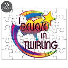 I Believe In Twirling Cute Believer Design Puzzle