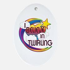 I Believe In Twirling Cute Believer Design Ornamen