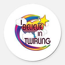 I Believe In Twirling Cute Believer Design Round C