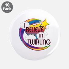 """I Believe In Twirling Cute Believer Design 3.5"""" Bu"""