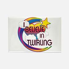 I Believe In Twirling Cute Believer Design Rectang