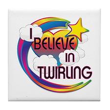 I Believe In Twirling Cute Believer Design Tile Co