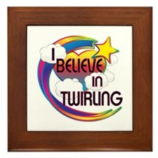 I Believe In Twirling Cute Believer Design Framed