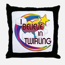 I Believe In Twirling Cute Believer Design Throw P