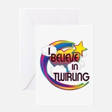 I Believe In Twirling Cute Believer Design Greetin