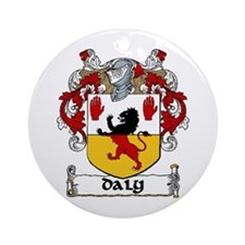 Daly Coat of Arms Ornament (Round)