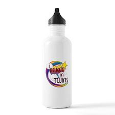 I Believe In Twins Cute Believer Design Water Bottle