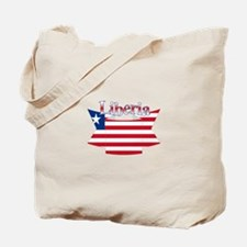Liberia flag ribbon Tote Bag