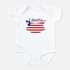 Liberia flag ribbon Infant Bodysuit
