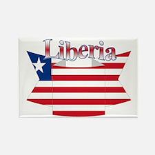 Liberia flag ribbon Rectangle Magnet