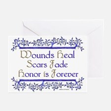 Honor is forever Greeting Cards (Pk of 10)
