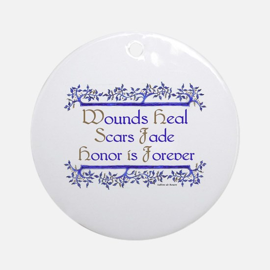 Honor is forever Ornament (Round)