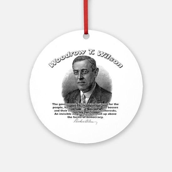 Woodrow Wilson 05 Ornament (Round)