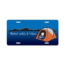 Room with a View Aluminum License Plate