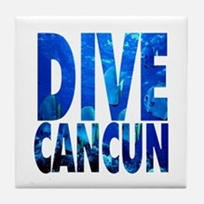 Dive Cancun Tile Coaster