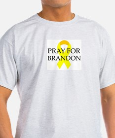 Pray for Brandon Ash Grey T-Shirt