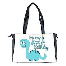 Dinosaur First Birthday Diaper Bag