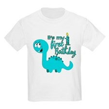 Dinosaur First Birthday T-Shirt