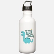 Dinosaur First Birthday Water Bottle