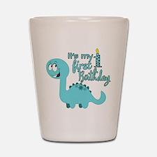 Dinosaur First Birthday Shot Glass