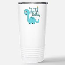 Dinosaur First Birthday Travel Mug
