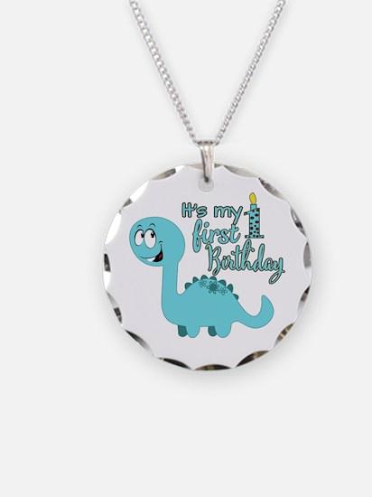 Dinosaur First Birthday Necklace