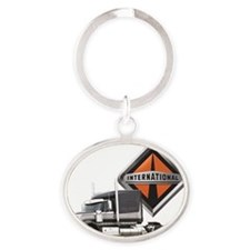 International Lone Star Semi Truck Oval Keychain