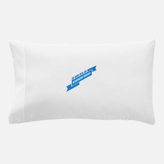Ich kann total gut Mitmenschen umgehen Pillow Case