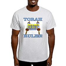 Torah Rules! Ash Grey T-Shirt