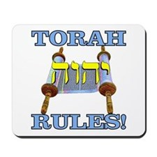 Torah Rules! Mousepad