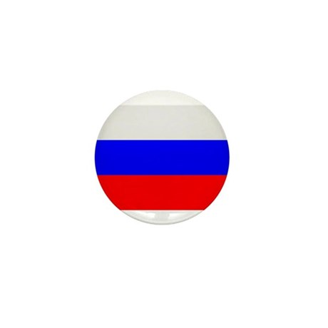Flag of Russia Mini Button (10 pack)