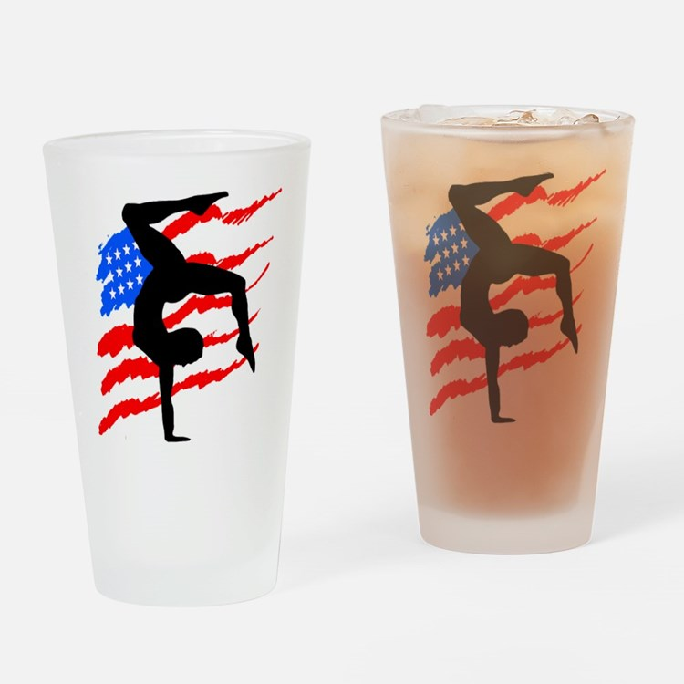 USA GYMNAST Drinking Glass