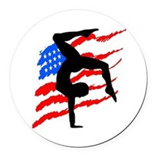 USA GYMNAST Round Car Magnet