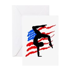 USA GYMNAST Greeting Card