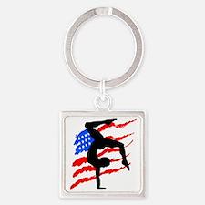 USA GYMNAST Square Keychain