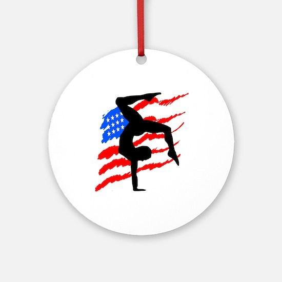 USA GYMNAST Ornament (Round)