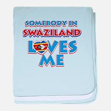 Somebody in Swaziland Loves me baby blanket