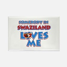 Somebody in Swaziland Loves me Rectangle Magnet