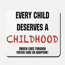 Updated.every child.black and red Mousepad
