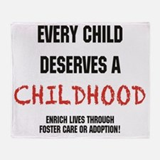 Updated.every child.black and red Throw Blanket