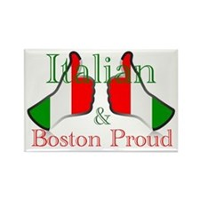 Italian and Boston Proud Magnets