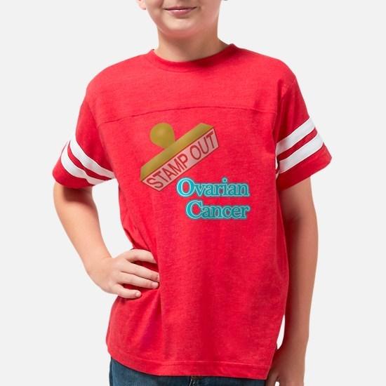 Ovarian Cancer Youth Football Shirt