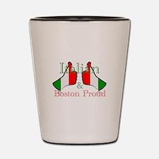 Italian and Boston Proud Shot Glass
