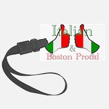 Italian and Boston Proud Luggage Tag