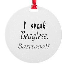 Funny Beagle Bark Ornament